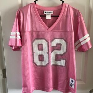 Tops - Pink Authentic Dallas Cowboys Jersey #82